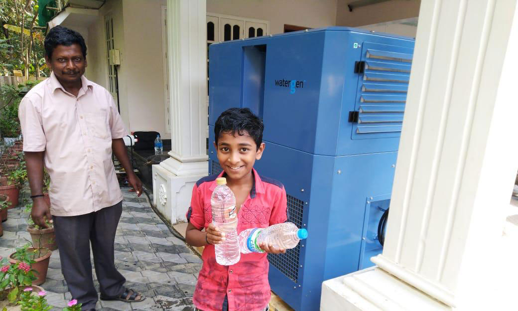 After Devastation From Monsoons, Watergen Provides Water From The Air in India