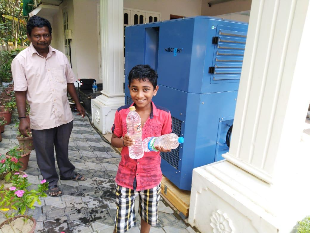 Watergen provides drinking water from air to residents in India