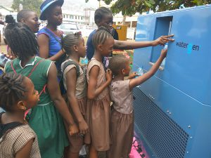 Watergen provides drinking water from air to Sierra Leone kids