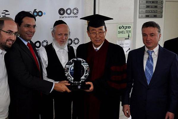 With Ban Ki-moon, former Secretary-General of the UN at TAU, Israel