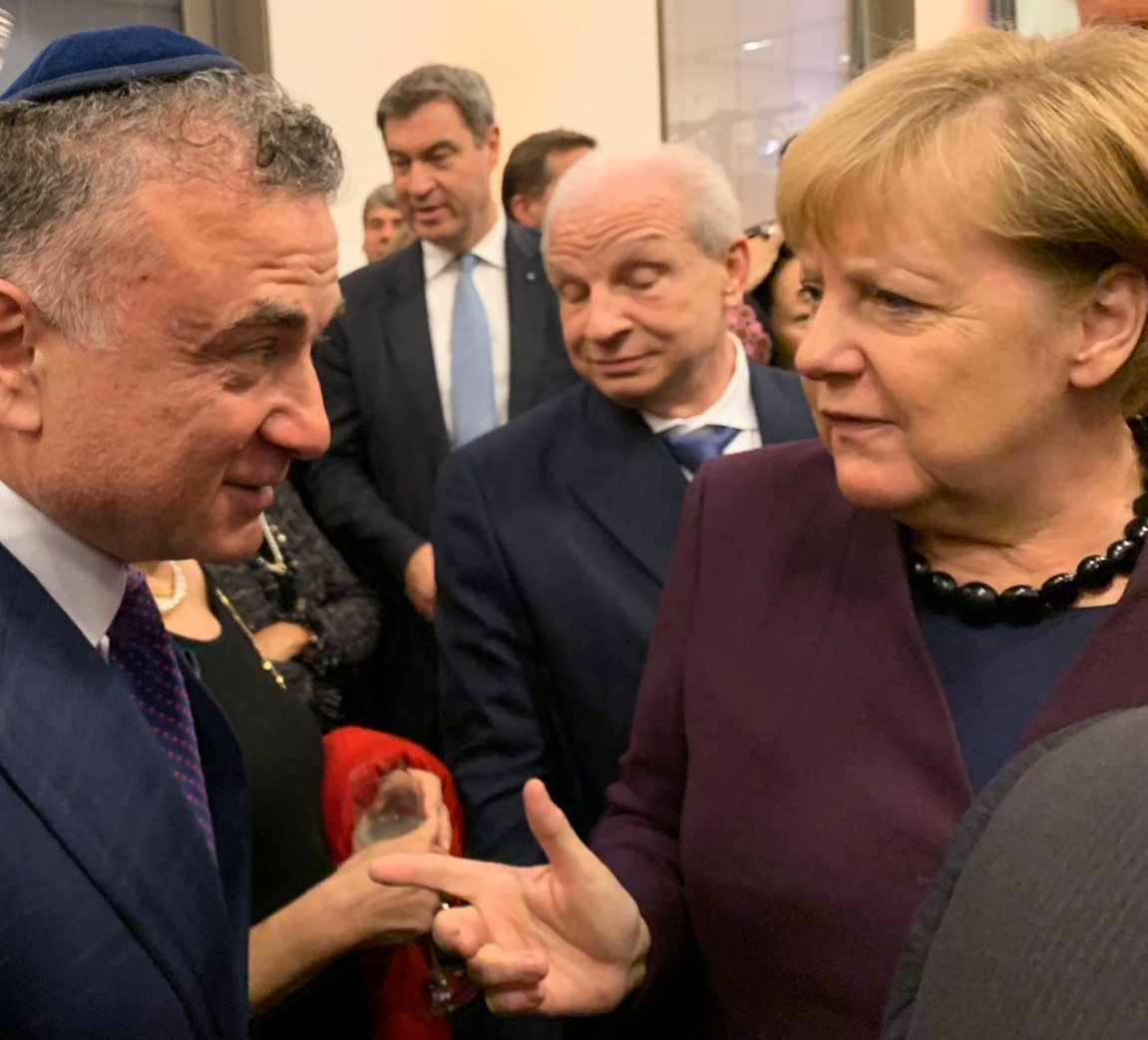 Meeting Germany's Chancellor Angela Merkal at the World Jewish Congress