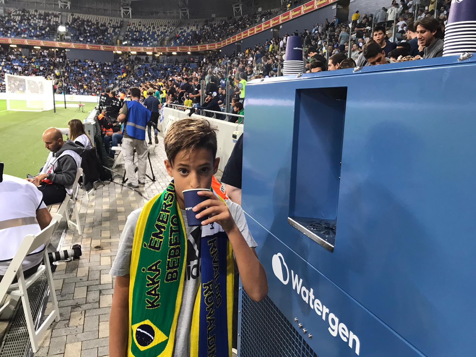 Watergen supplied water at the Shalom Game