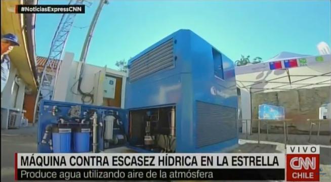 CNN report: New Water-from-Air generator in La Estrella, Chile