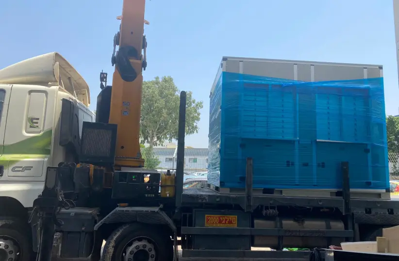 Another Water-from-Air generator donated to provide clean water for a Gaza hospital