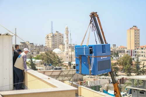 Watergen helps Gaza deal with its growing water problem