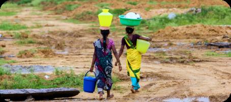 Girl hauling water