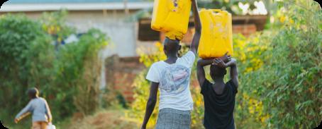 Woman hauling water